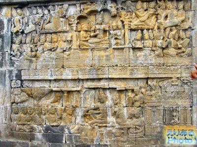 ボロブドゥール寺院・第1回廊レリーフ