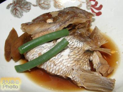 古湧 園の夕食 お部屋食 鮑・伊勢海老・鯛釜飯会席 鯛の煮物
