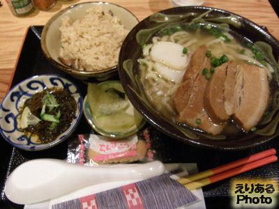 沖縄そばセット@沖縄家庭料理 琉球市場 やちむん