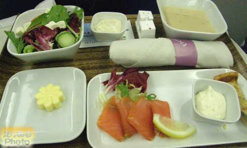 デルタ航空ビジネスエリート機内食 WESTERN SELECTION(洋食メニュー)